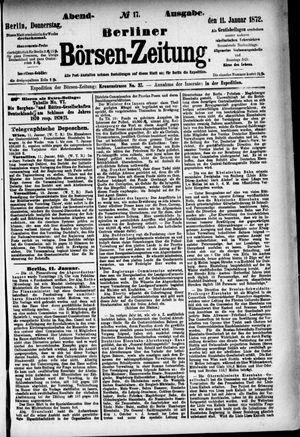 Berliner Börsen-Zeitung vom 11.01.1872