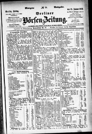 Berliner Börsen-Zeitung vom 12.01.1872