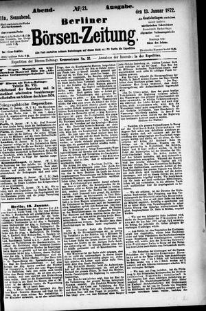 Berliner Börsen-Zeitung vom 13.01.1872