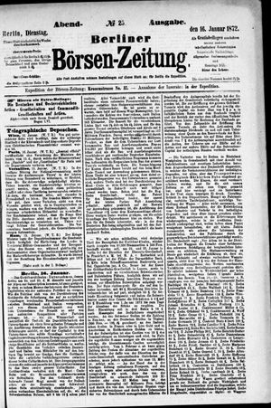 Berliner Börsen-Zeitung vom 16.01.1872