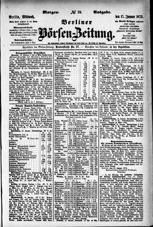 Berliner Börsen-Zeitung vom 17.01.1872