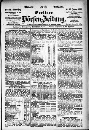 Berliner Börsen-Zeitung on Jan 18, 1872