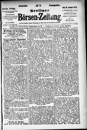 Berliner Börsen-Zeitung vom 19.01.1872