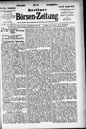 Berliner Börsen-Zeitung vom 20.01.1872