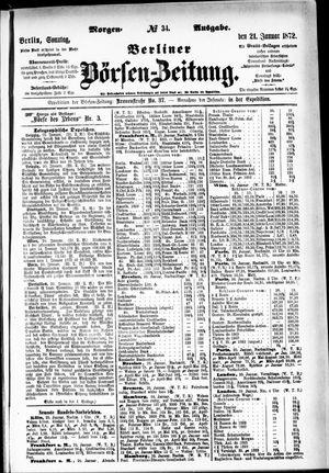 Berliner Börsen-Zeitung vom 21.01.1872