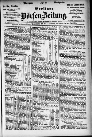 Berliner Börsen-Zeitung vom 23.01.1872