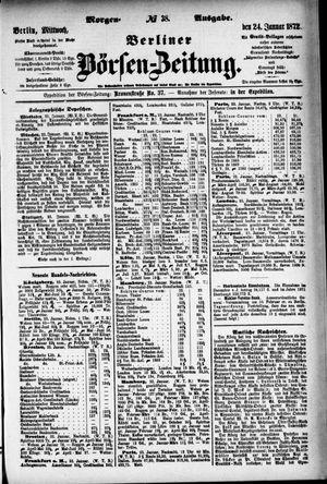 Berliner Börsen-Zeitung on Jan 24, 1872