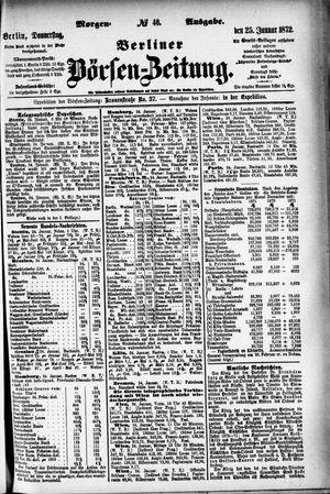 Berliner Börsen-Zeitung vom 25.01.1872