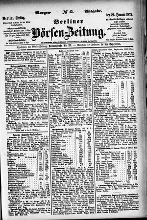 Berliner Börsen-Zeitung vom 26.01.1872