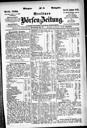 Berliner Börsen-Zeitung vom 30.01.1872