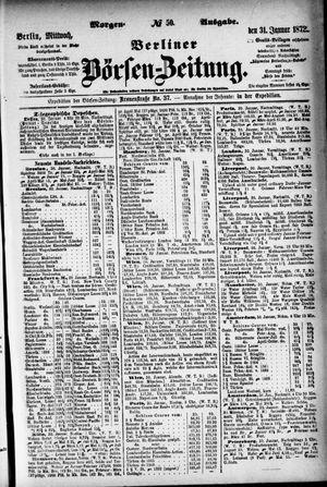 Berliner Börsen-Zeitung vom 31.01.1872
