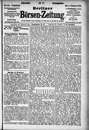 Berliner Börsen-Zeitung vom 03.02.1872