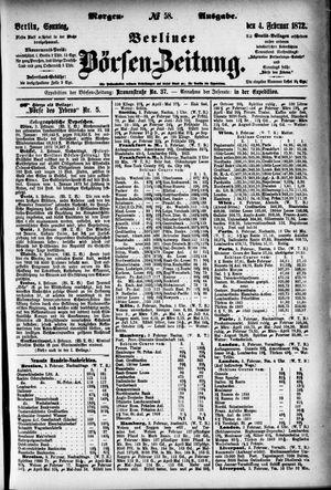Berliner Börsen-Zeitung vom 04.02.1872
