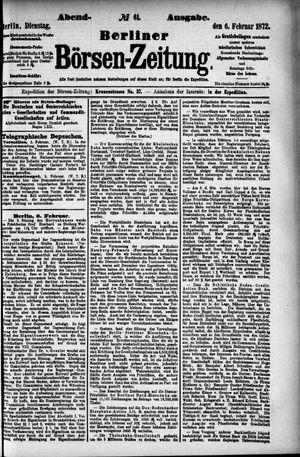 Berliner Börsen-Zeitung vom 06.02.1872