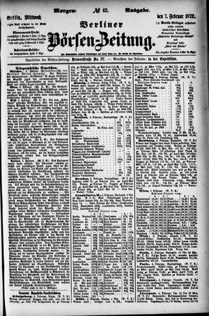 Berliner Börsen-Zeitung vom 07.02.1872