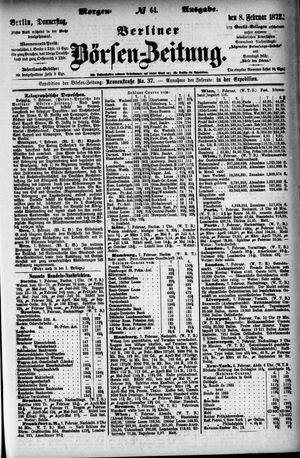 Berliner Börsen-Zeitung vom 08.02.1872