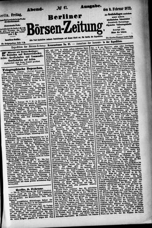 Berliner Börsen-Zeitung vom 09.02.1872
