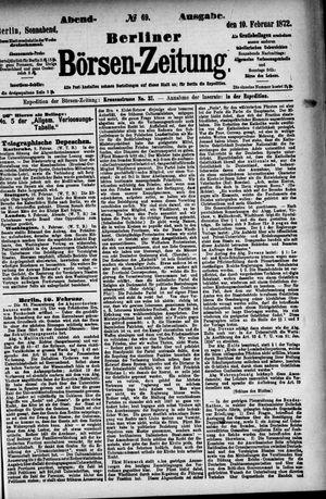 Berliner Börsen-Zeitung vom 10.02.1872