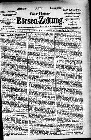 Berliner Börsen-Zeitung vom 15.02.1872