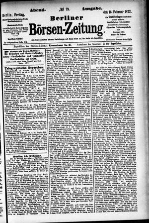 Berliner Börsen-Zeitung vom 16.02.1872