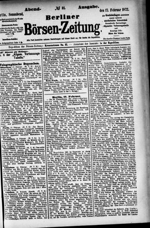 Berliner Börsen-Zeitung vom 17.02.1872