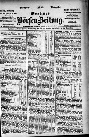 Berliner Börsen-Zeitung vom 18.02.1872