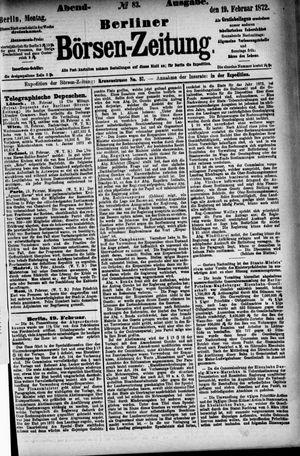 Berliner Börsen-Zeitung vom 19.02.1872