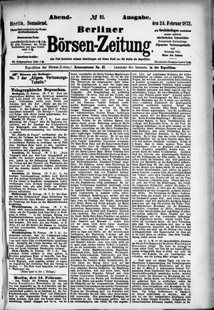 Berliner Börsen-Zeitung vom 24.02.1872