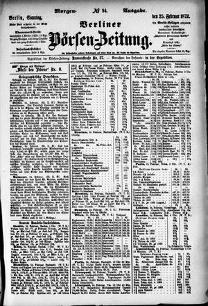 Berliner Börsen-Zeitung vom 25.02.1872