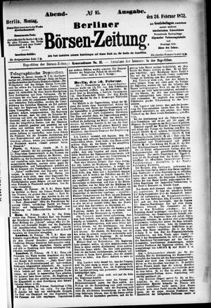 Berliner Börsen-Zeitung vom 26.02.1872
