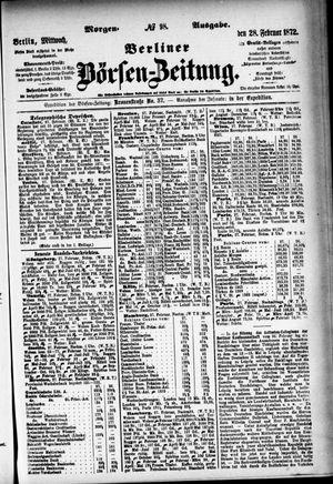 Berliner Börsen-Zeitung vom 28.02.1872