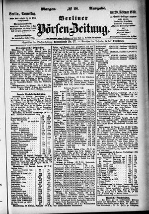 Berliner Börsen-Zeitung vom 29.02.1872