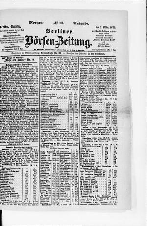 Berliner Börsen-Zeitung vom 03.03.1872