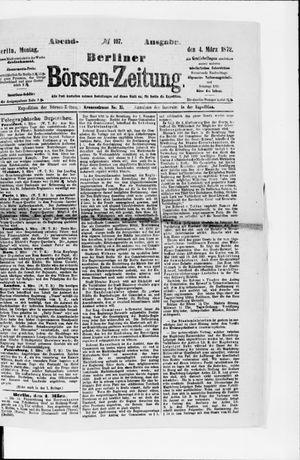 Berliner Börsen-Zeitung vom 04.03.1872