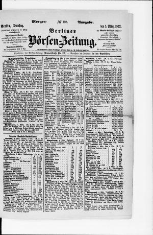 Berliner Börsen-Zeitung vom 05.03.1872