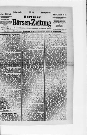Berliner Börsen-Zeitung vom 06.03.1872