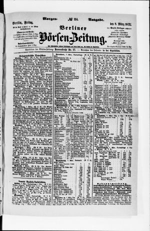 Berliner Börsen-Zeitung vom 08.03.1872