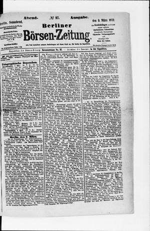 Berliner Börsen-Zeitung vom 09.03.1872