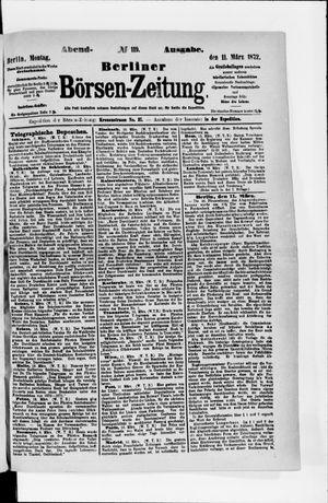 Berliner Börsen-Zeitung vom 11.03.1872