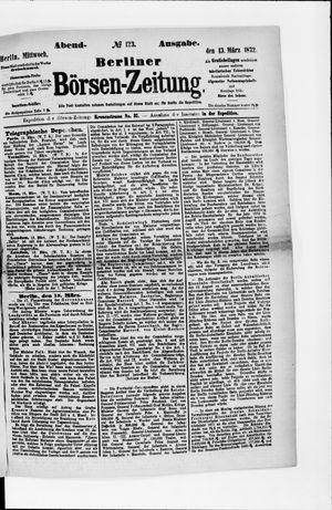 Berliner Börsen-Zeitung vom 13.03.1872