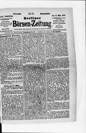 Berliner Börsen-Zeitung vom 14.03.1872