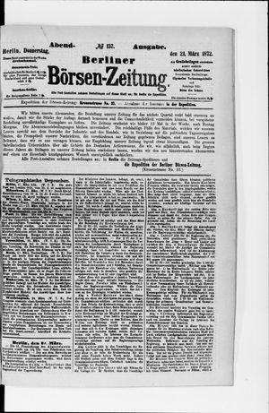 Berliner Börsen-Zeitung vom 21.03.1872