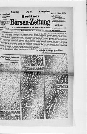 Berliner Börsen-Zeitung vom 23.03.1872