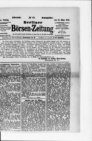 Berliner Börsen-Zeitung vom 25.03.1872