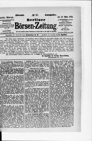 Berliner Börsen-Zeitung vom 27.03.1872