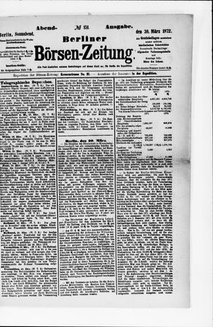Berliner Börsen-Zeitung vom 30.03.1872