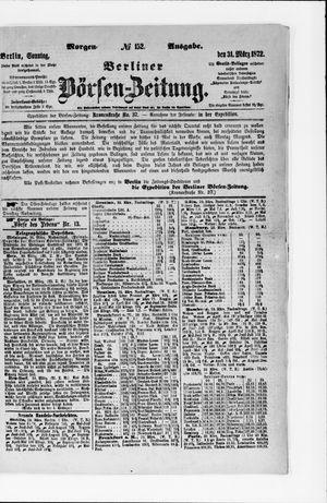 Berliner Börsen-Zeitung vom 31.03.1872