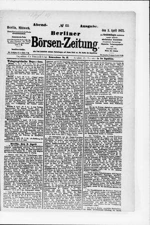 Berliner Börsen-Zeitung vom 03.04.1872