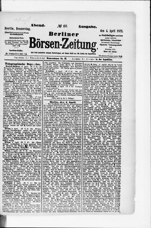 Berliner Börsen-Zeitung vom 04.04.1872