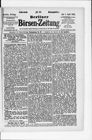 Berliner Börsen-Zeitung vom 05.04.1872